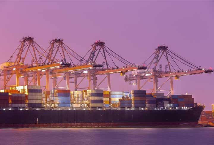 Le commerce et le transport international